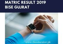matric result 2019 bise Gujrat