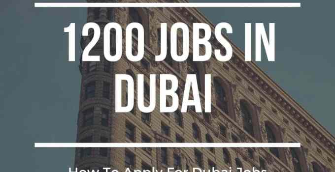 Dubai jobs 2019