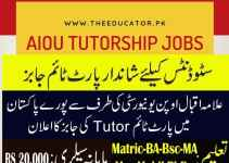 aiou tutor jobs 2019