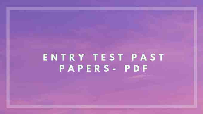 Download Ecat Past Papers ( 2005-2018 ) In PDF
