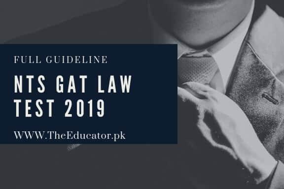 NTS GAT Law Test 2019[Full Details]