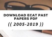 ecat past papers in pdf