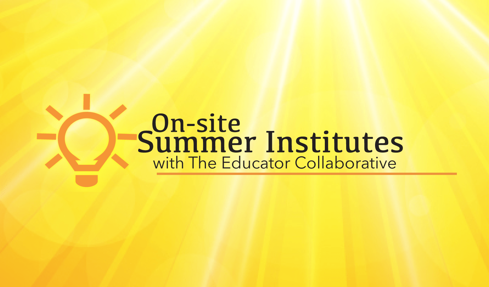 Onsite Summer Institutes