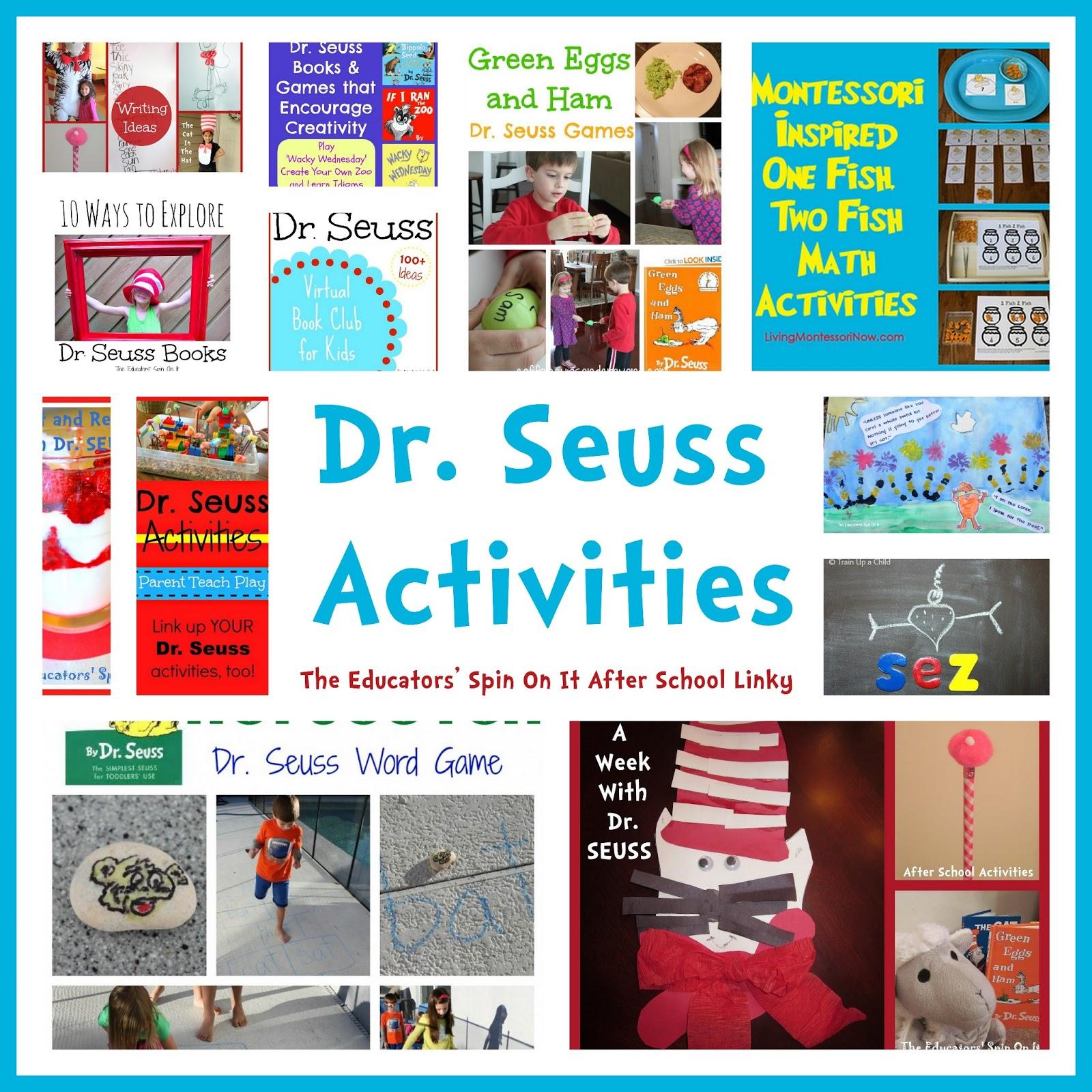 Dr Seuss Activities For Read Across America