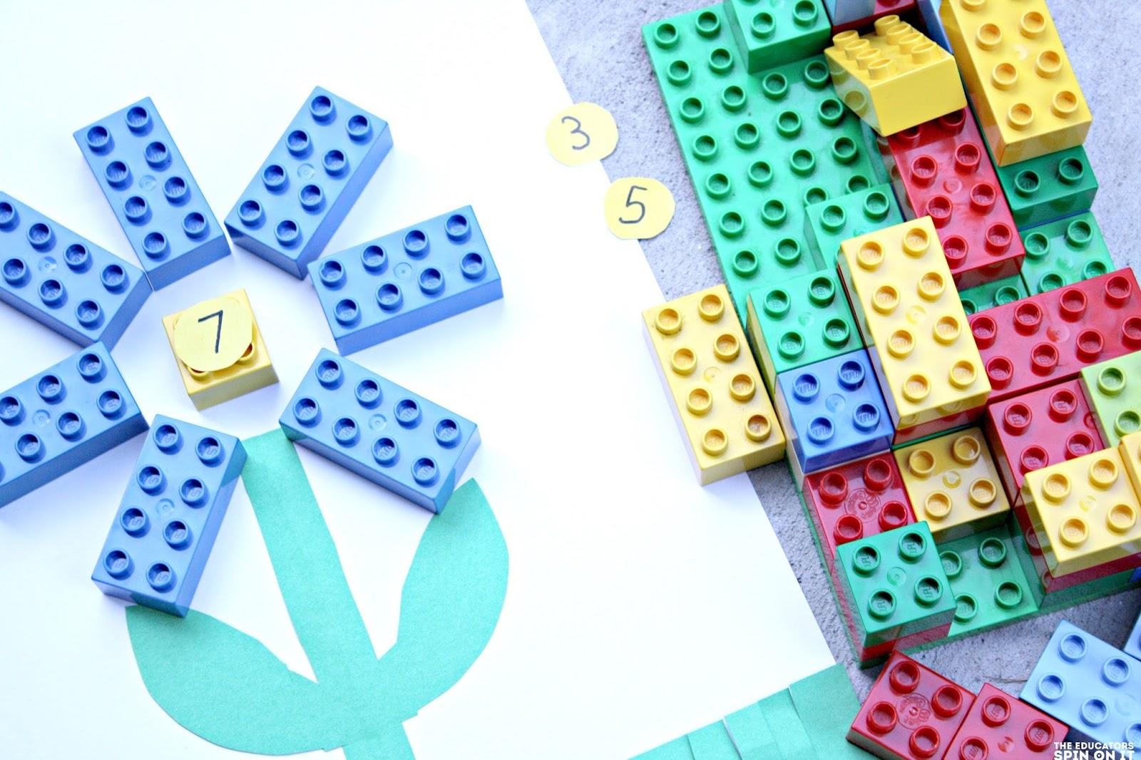 Lego Garden Preschool Math