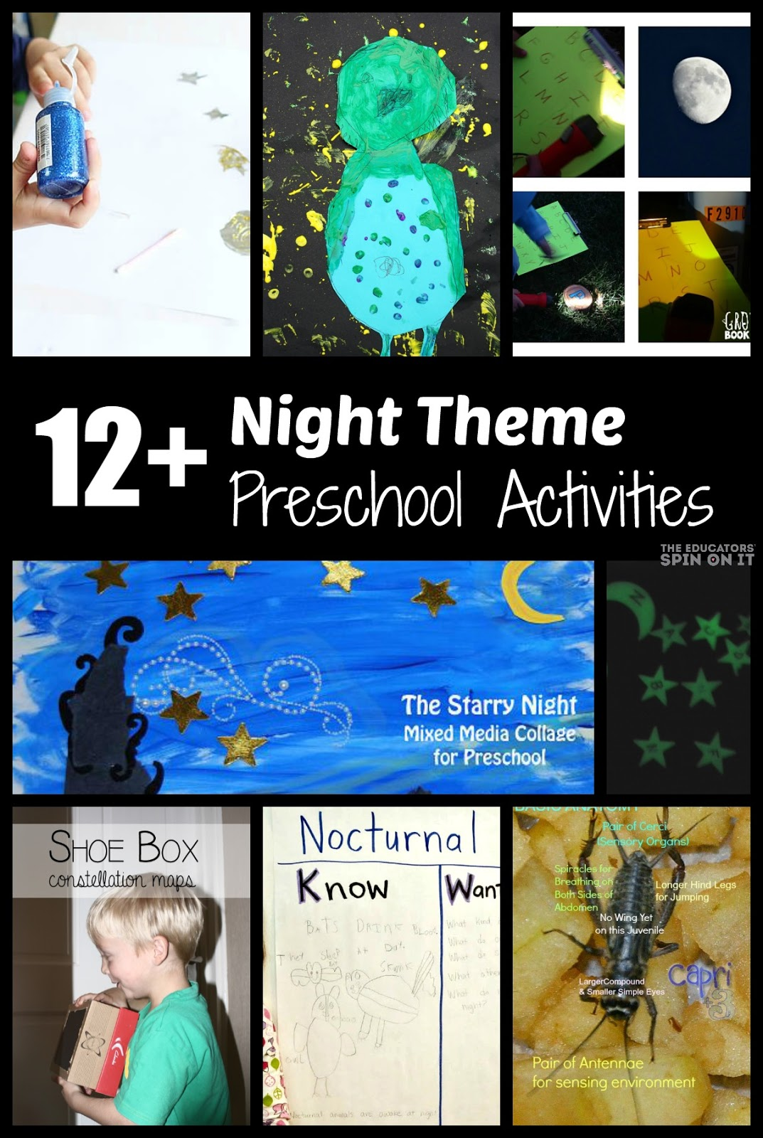 Nighttime Preschool Activities Night Owl Painting And Books Playfulpreschool