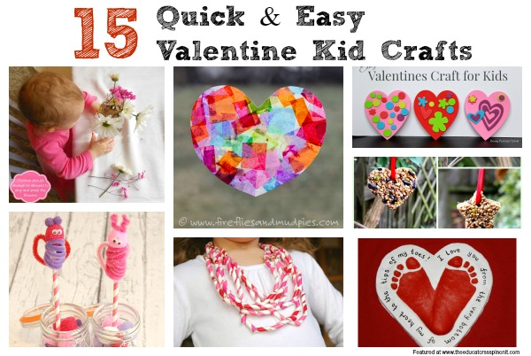 Easy Valentines Day Crafts For Kids The Educators Spin