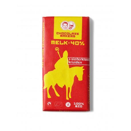 Bio Sinterklaas bar melk 40% Sinterklaaskruiden