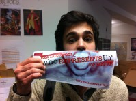 That's SUARTS Culture and Diversity Officer - Mostafa Rajaai! He's re-running so check out his campaign and vote !