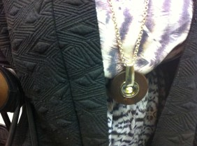finish with a statement necklace (and a warm coat because it's still winter!)
