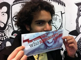BA Journalism student Nelson shows his support