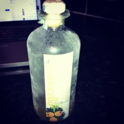 My Limoncello straight outta da freezer. So sad to see it come to an end :(