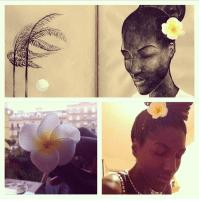 Selfie taken in Sicily... Illustration adaptation by Olga Lolo