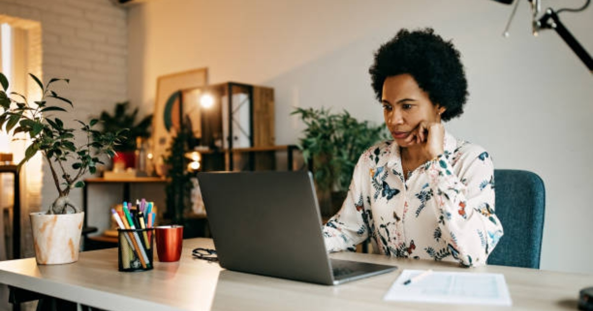 A woman working from home. Photo: Istock.