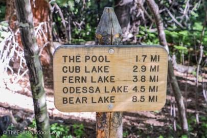 Fern Lake trail, Rocky Mountain National Park