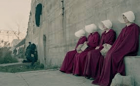 Handmaids not looking at one another
