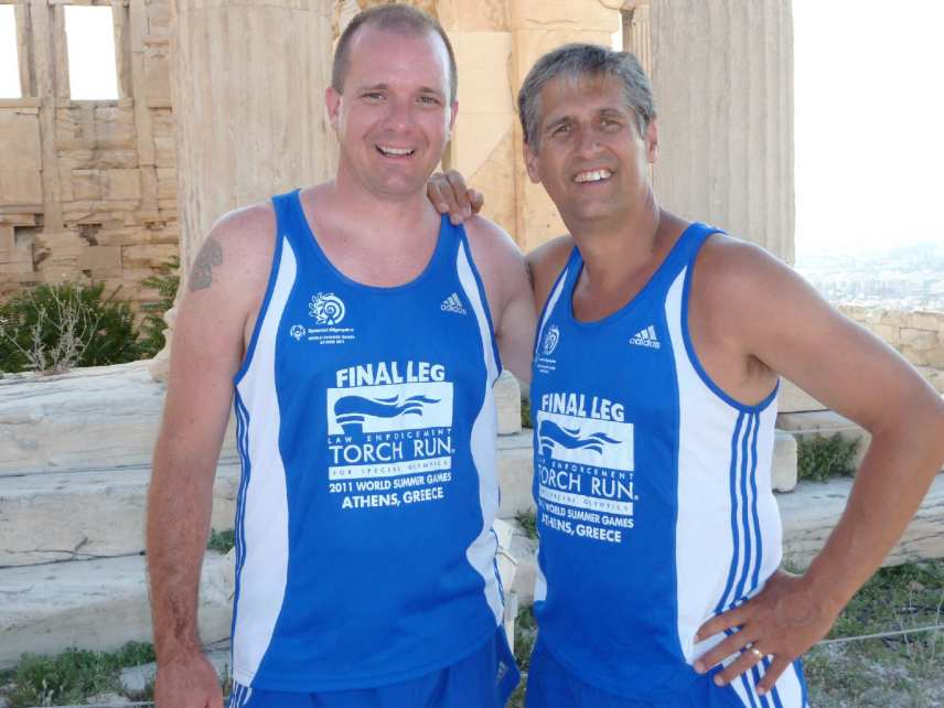 Jason Johnson & Jack Allen in Athens (June 2011) International Final Leg for Summer World Games