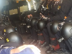 U.S. Army Golden Knights in Great Falls on July 12. Photo by Jenn Rowell | The Electric
