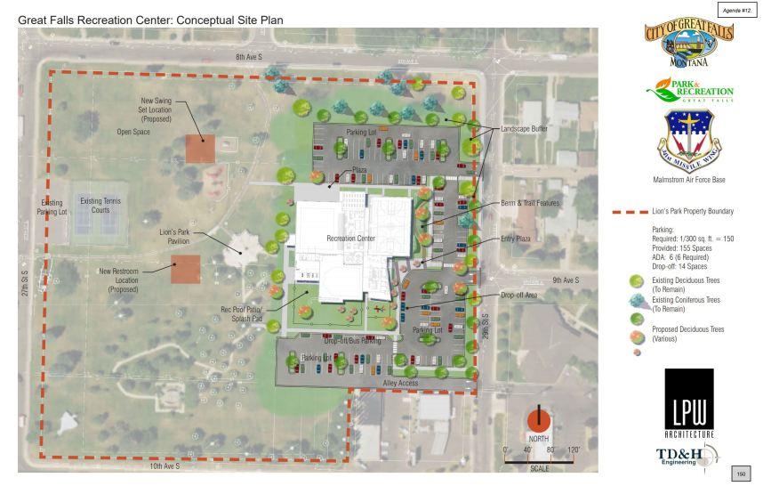 Aim High Big Sky aquatics center site plan