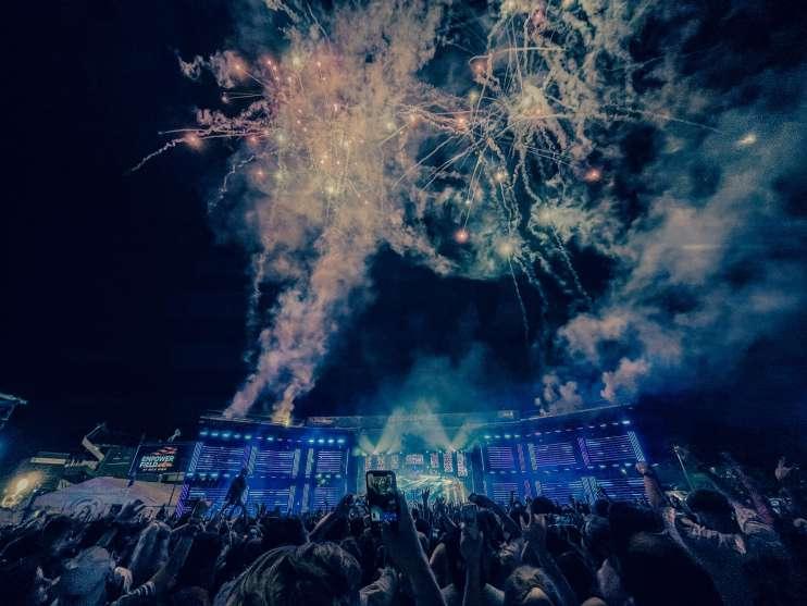 Fireworks during Kaskade Global Dance Festival 2021 Electric Hawk