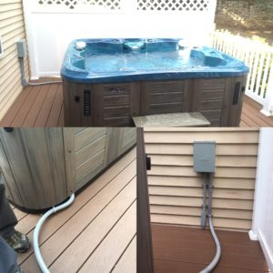 Hot tub electrical hook up cost