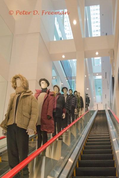 Descending Mannequins