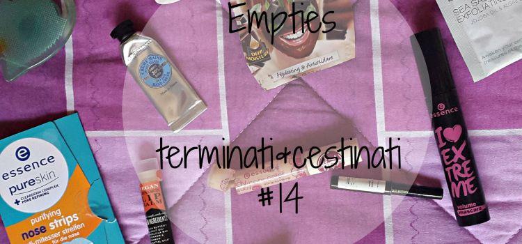 Empties | terminati&cestinati #14