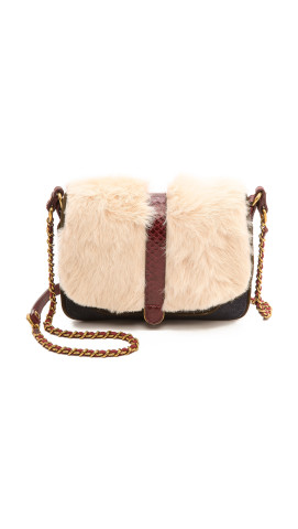 Jerome Dreyfuss Jojo Blanc Rabbit Fur Bag, $790, shopbop.com