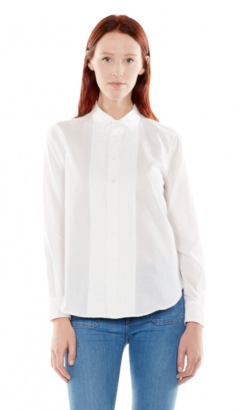 Equipment Raylen Bright White Cotton Shirt
