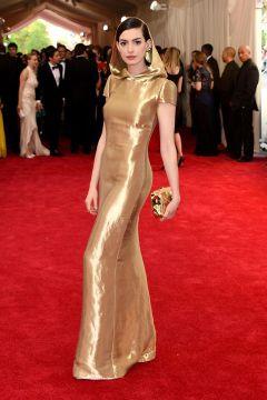 Anne Hathaway in Ralph Lauren