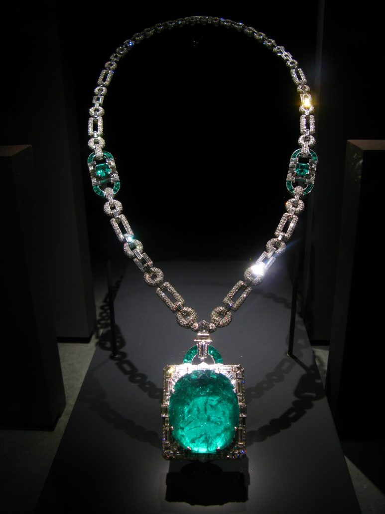 a once in products diamonds with pear upon necklace pendant emerald vintage diamond