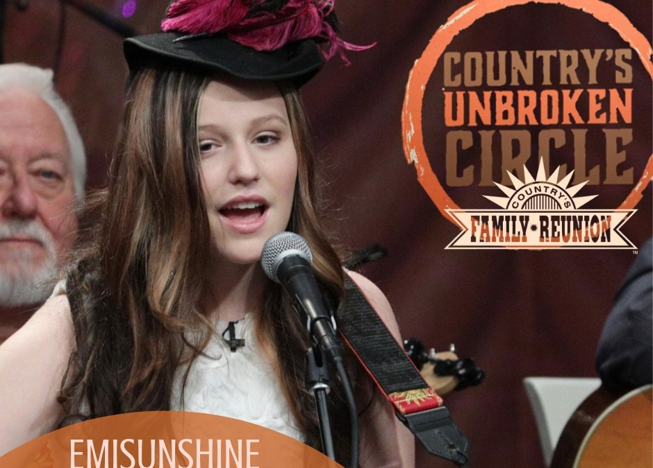 EmiSunshine Appears on Country's Family Reunion Reairs on Dec 21st and 22nd