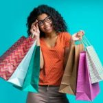 Woman spending her money without disguise