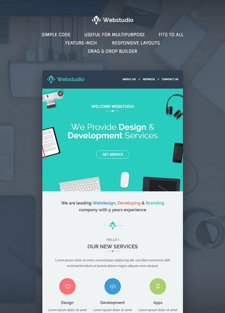 WebStudio E Newsletter Template Buy Premium WebStudio E Newsletter Template