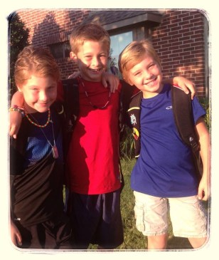 First Day of School - The Empowered Mom and sending her HEART(S) to school.