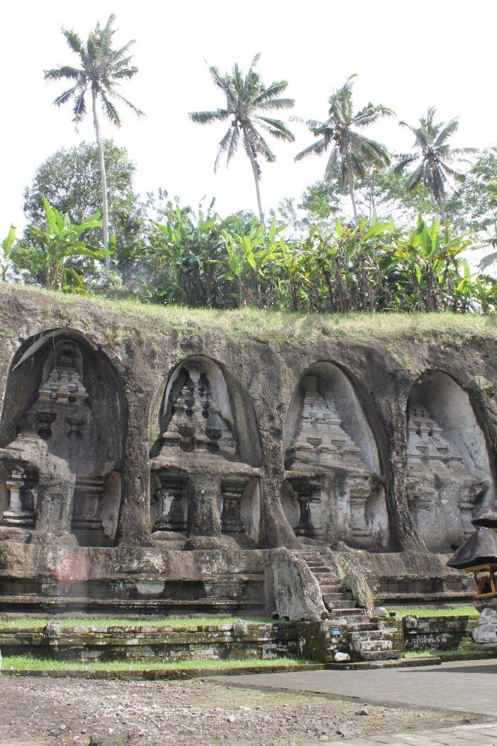 Gunung Kawi temple carvings in cliff Bali