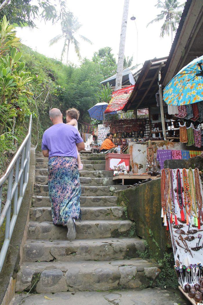 steps of Gunung Kawi temple Bali