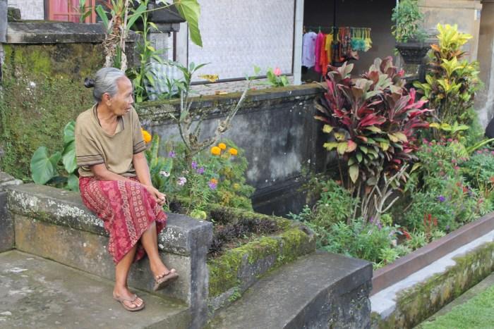 Balinese woman in Penglipuran village