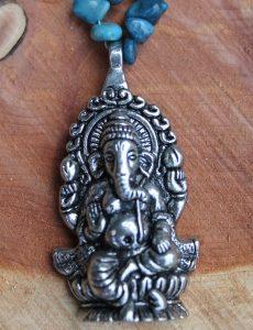 Ganesh pendant Hindu necklace