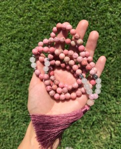 pink mala beads www.theenchantedgypsy.com