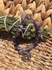 amethyst pentacle bracelet