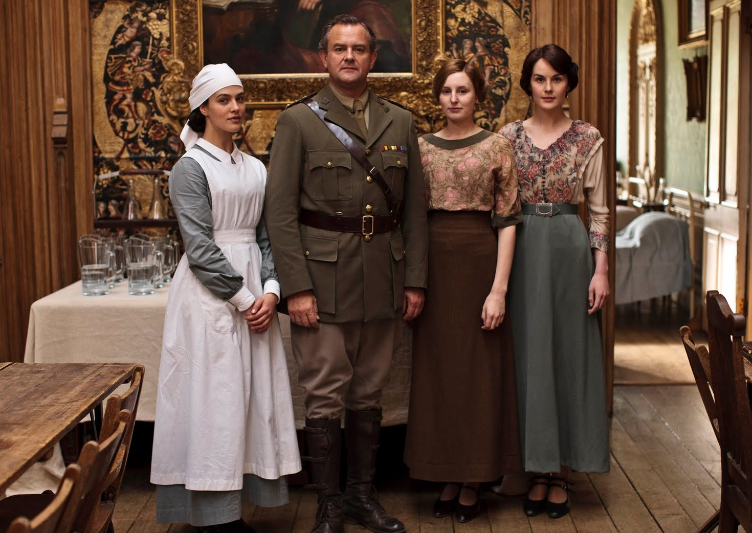 Image result for downton abbey wardrobe/world war