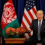 U.S. President Donald Trump meets with Afghan President Ashraf Ghani in New York