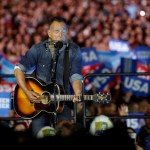 Springsteen performs at  a campaign rally for Hillary Clinton in Philadelphia