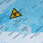 Guinea,Map,With,Biohazard,Sign