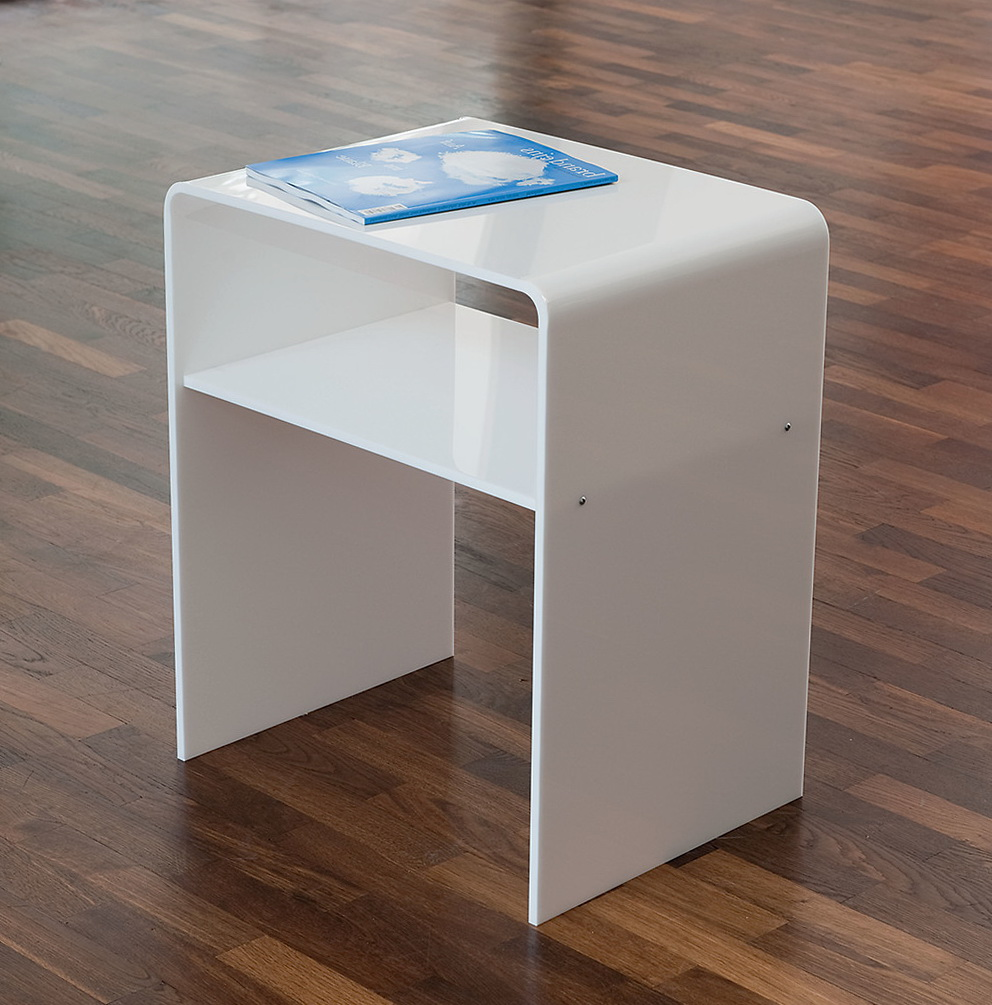 Acrylic Side Table With Casters