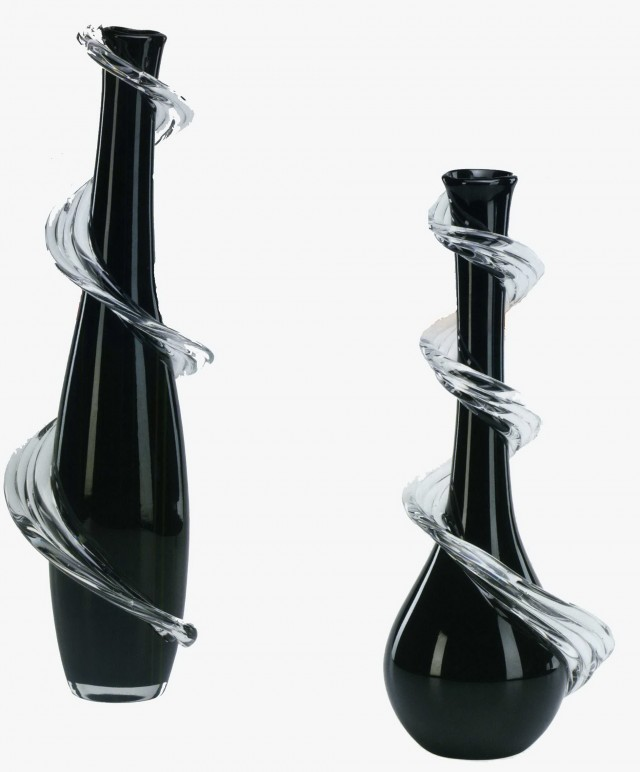 Black Glass Vases Wholesale