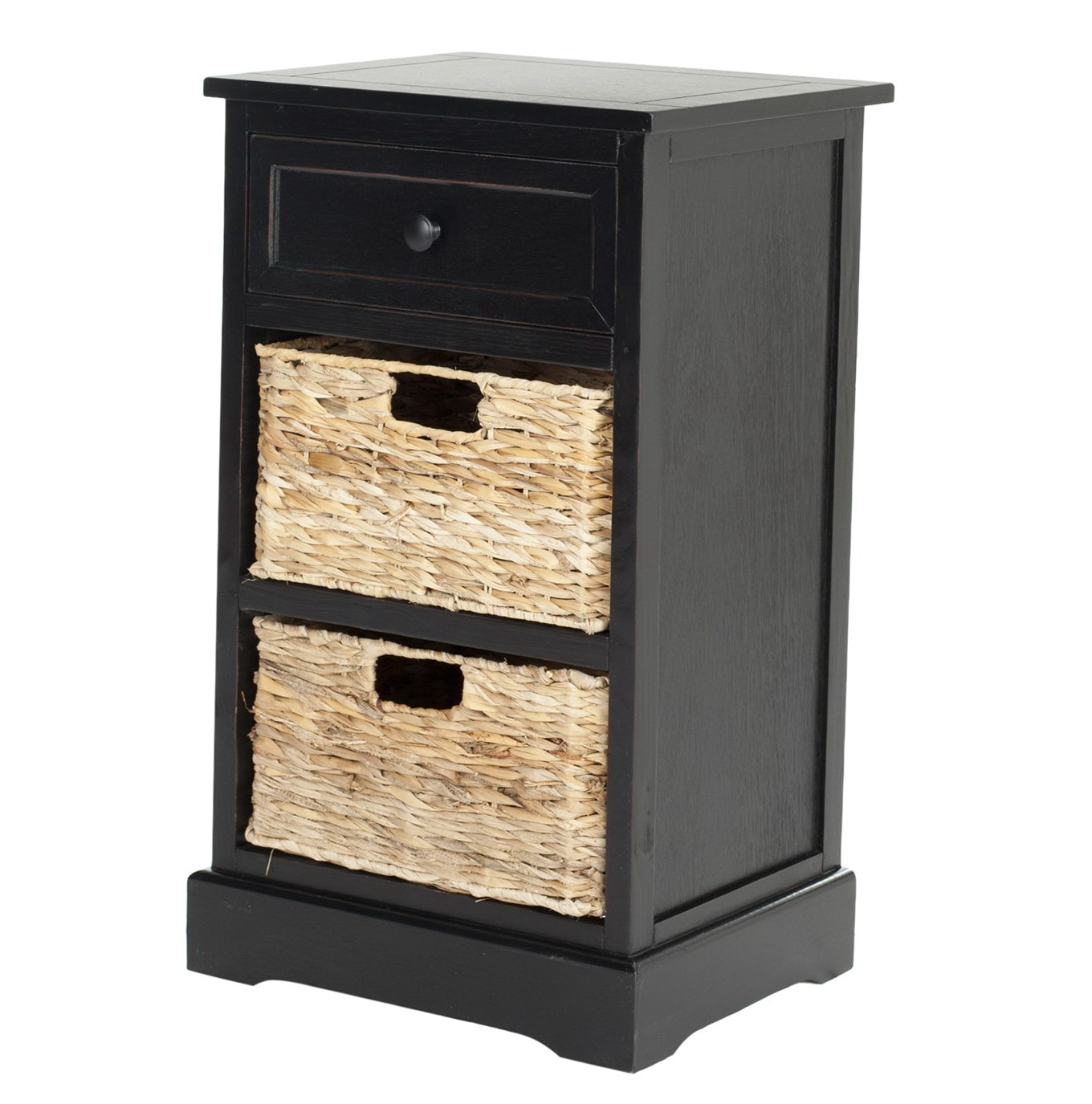 Black Side Table With Storage