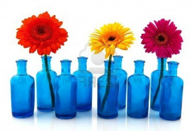 Blue Glass Vases Bulk