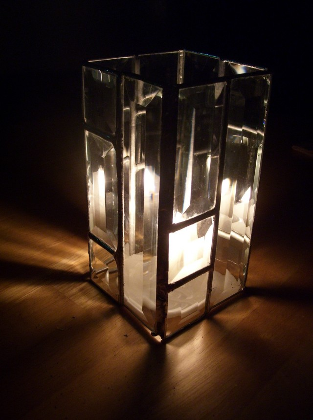 Candles In Large Glass Vases